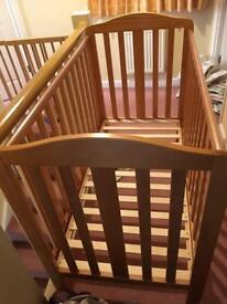 Mothercare wooden cot - in excellent condition