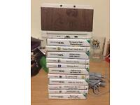 New 3ds and 11 great games, wooden Japanese case