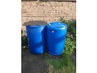 2 empty barrels