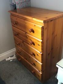 Set of wooden drawers