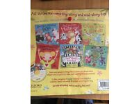 6 children's books and music cd -brand new