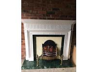 Fire surround hearth and electric fire