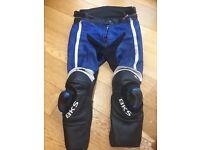 BKS leather motor bike 2 piece suit size 44