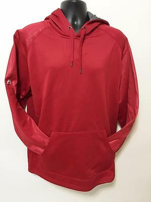 Majestic Mens Fashion Hoodie Red NWT Sz L Subtle Pattern Hip Hop Fleece Jacket
