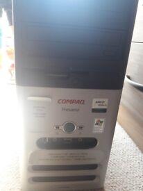 Compaq desktop,harddrive. keyboard, HP printer and scanner
