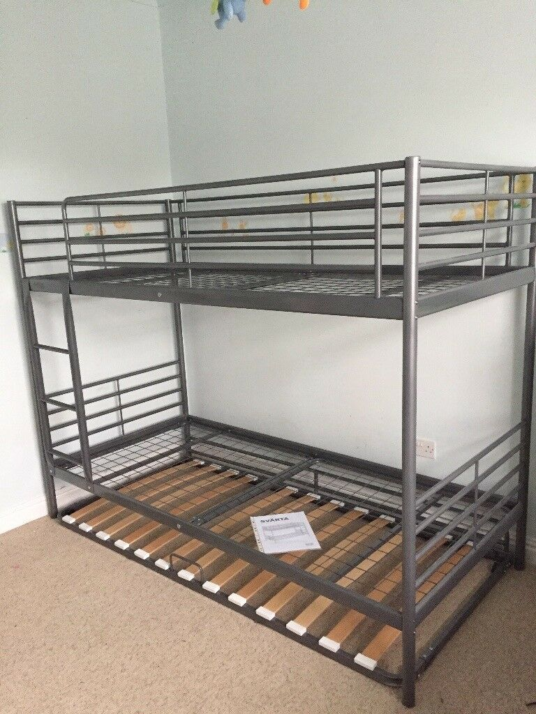 Ikea Svarta Grey Metal Bunk Beds In St Helens