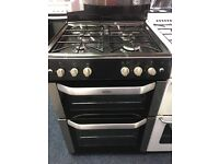 BELLING 60CM ALL GAS COOKER IN BLACK