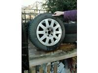 5 x Audi a4 alloy wheels