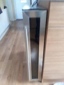 CDA 15cm Wide Freestanding /Under counter Black Wine Cooler
