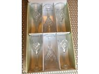 Galway Crystal 6 x Tralee Wine Goblets Boxed