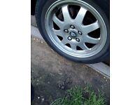 Jaguar 16inch alloy wheels, original x type, full set in vgc with good tyres