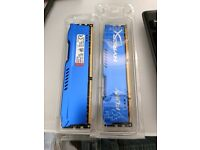 16GB (2x8GB) HyperX Fury Blue RAM DDR3 1866 MHz CL10 DIMM Memory Module Kit - Blue