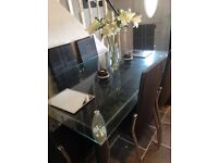 Glass dinner table sits 6 for sale £100