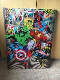 Superhero canvas