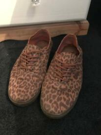 Leopard print vans