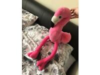 Big eyed flamingo plush toy