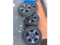 "Audi alloy wheels genuine 16"""