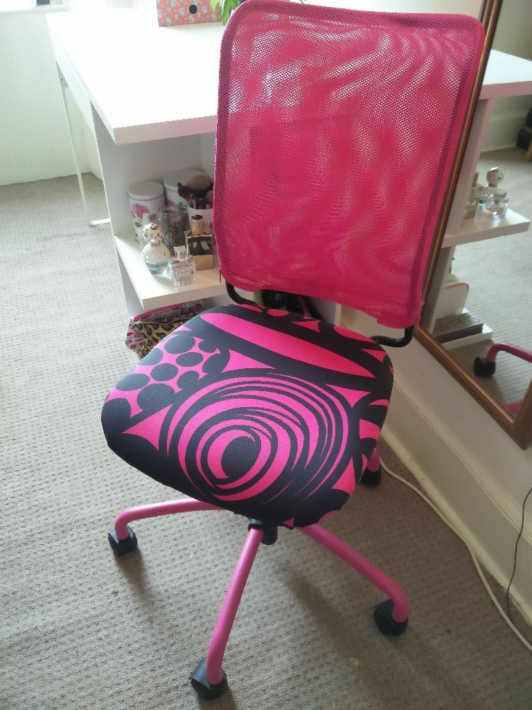 Swivel desk chair ikea torbjorn in pink perfect for Ikea office desk chair