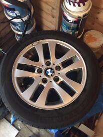 "Genuine 16"" BMW alloys"