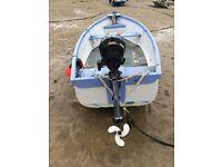 15 foot fibre glass boat.