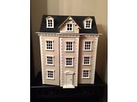 Gorgeous 4-storey dolls house. Filled with furniture and dolls from the Dolls Emporium.