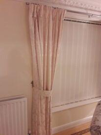 Cream damask pattern curtains