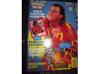 RARE WWE/ WWF WRESTLING SUPER STARS POSTER MAGAZINE BRUTUS THE BARBER HAVE OTHER MAGAZINES