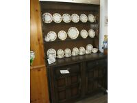 QUALITY 'ERCOL' WELSH DRESSER. TOP DETACHABLE FROM BASE