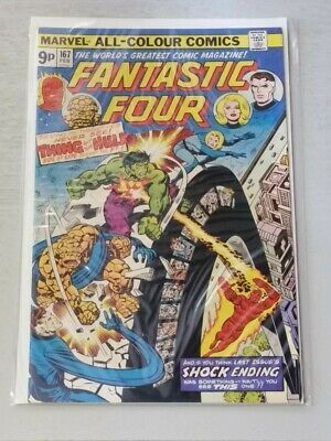 FANTASTIC FOUR #167 VF+ (8.5) MARVEL COMICS HULK BATTLE FEBRUARY 1976*