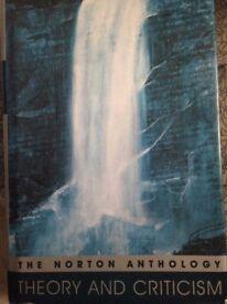 Norton Anthology of Theory and Criticism, used, hardback