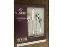 BRAND NEW AND UNOPENED Viners Grace 16-Piece 18.10 Stainless Steel Cutlery Set RRP £49.99