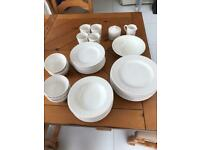 Dinner set ( plates , pudding bowls, mugs etc) ,