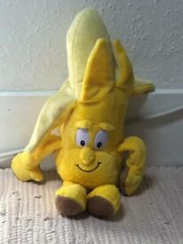 Banana man soft toy middle new size