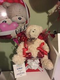 Red Box Valentine Bear Bouquet
