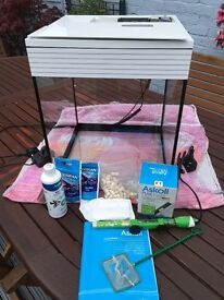 Askoll 40 litre aquarium and accessories for sale