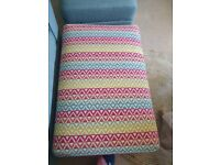 Brand new brightly coloured footstool