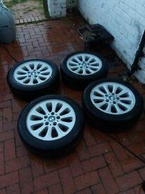 Original bmw alloy wheels & tyres