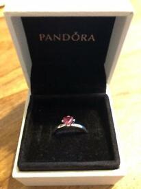Brand new Pandora sparkling red heart ring