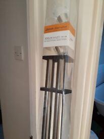 Metal curtain pole kit