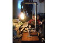 Rustic Pipe Lamp
