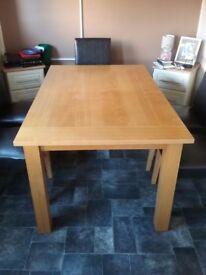Light Oak Extending Dining Table
