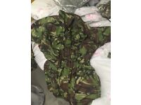 Army issue combat jacket smock rip stop hunting fishing