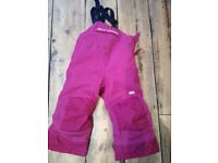 Immaculate girls Helly Hansen snow trousers/suit age 2 (92cm) fits 2-3 worn twice