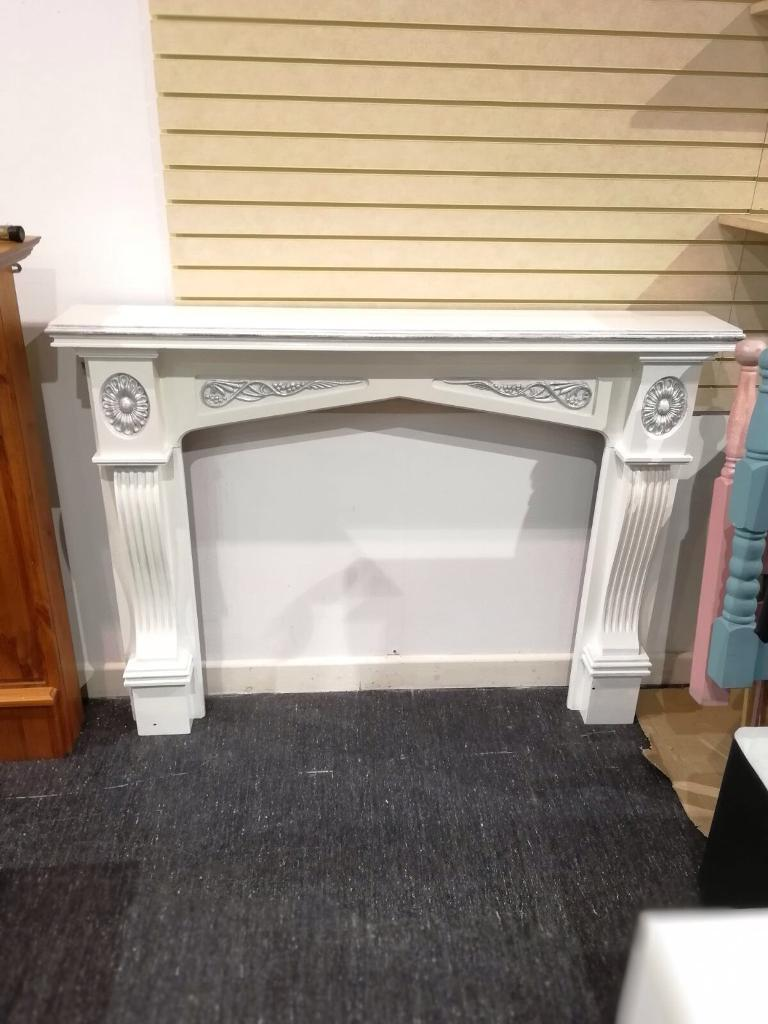 Hand painted wooden fire surround