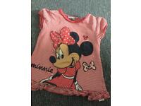 Minnie Mouse top 3-4y