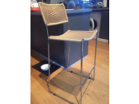 Stylish Chrome Metal And Plastic Type Bamboo Bar Stool/Seats