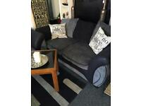 DFS grey and black 2x2 sofas £275