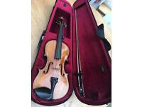 4/4 Dresden Violin Circa 1900 with case, bow and accessories