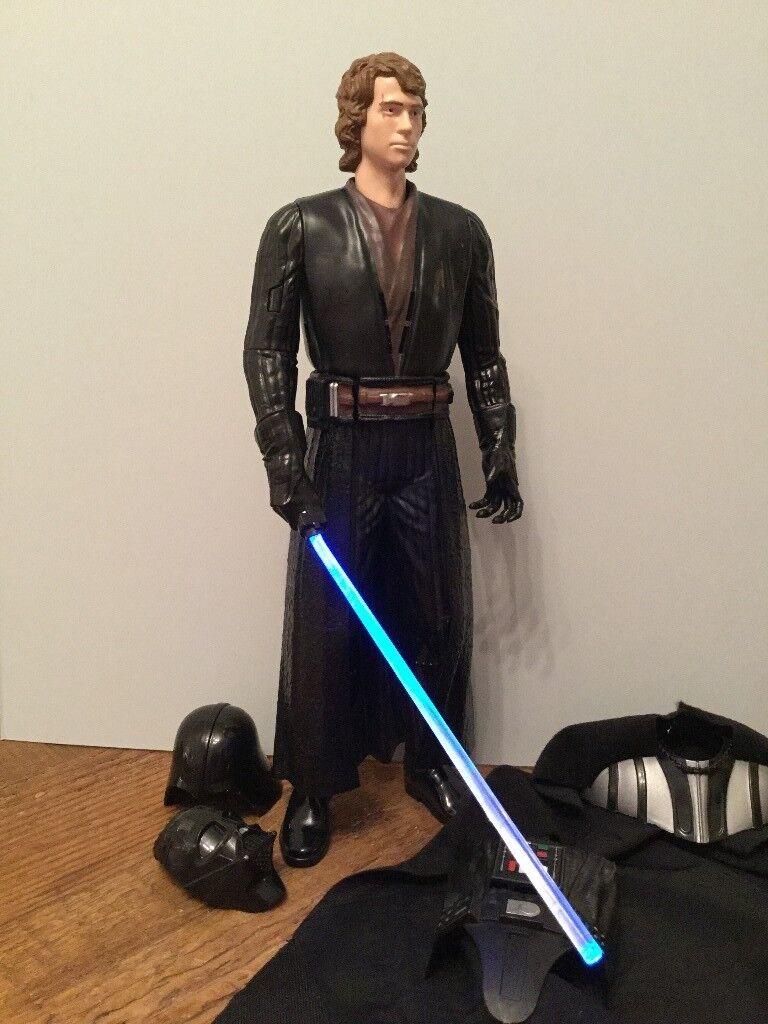 Star Wars Talking and light-up Figure of Anakin Skywalker / Darth Vader (32 cm tall ).