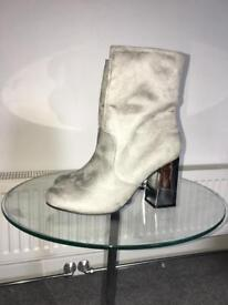 Never worn grey with silver heel sock boots size 7